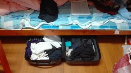 リゾートバイト スーツケース