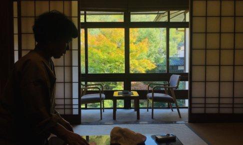 中庭の紅葉がきれな旅館でした!