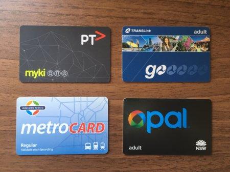 オーストラリアのメトロカード(Suicaみたいなやつ)
