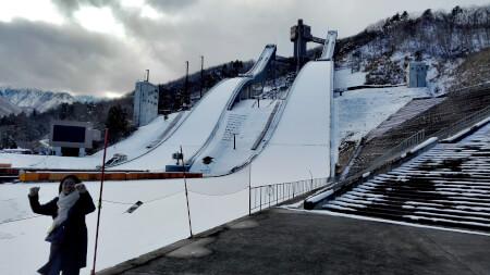 白馬村リゾートバイトスキージャンプ台